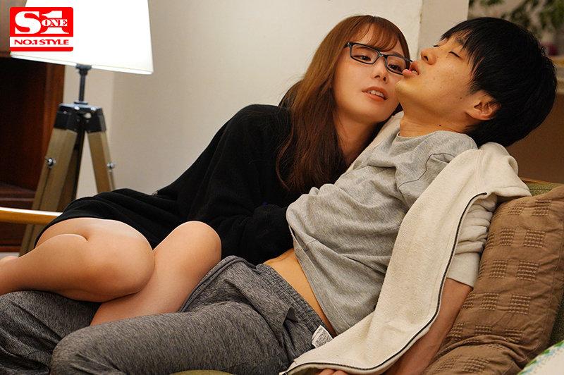 女友就在旁边却从背后耳语责弄乳头让我狂乱的女友姐姐miru SSIS-169 screenshot 8