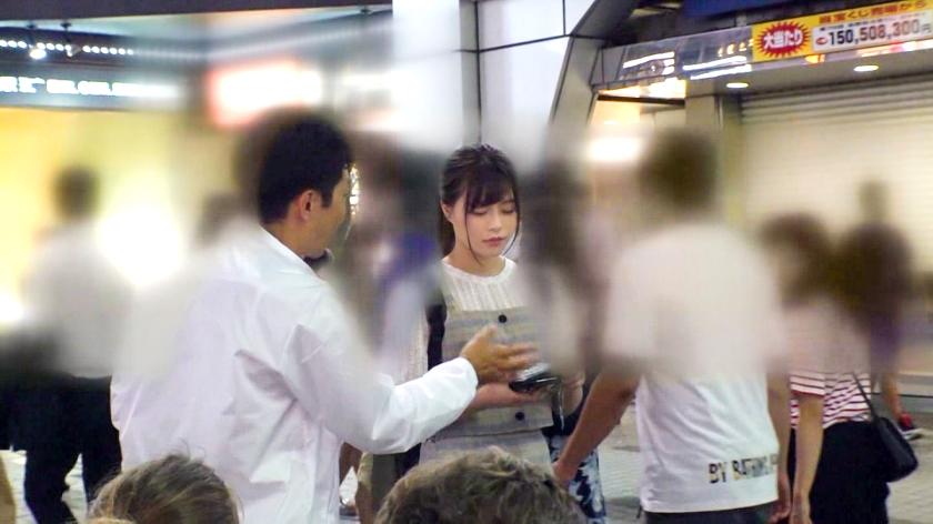 マジ軟派、初撮。 1386 渋谷で捕まえた超絶美少女をインタビューのテイでホテルに連れ込み!エッチな雰囲気に流されてセックス開始!ハードピストンに『もっとぉおお!!』と絶叫しながらイキまくるスケベ素人 screenshot 1