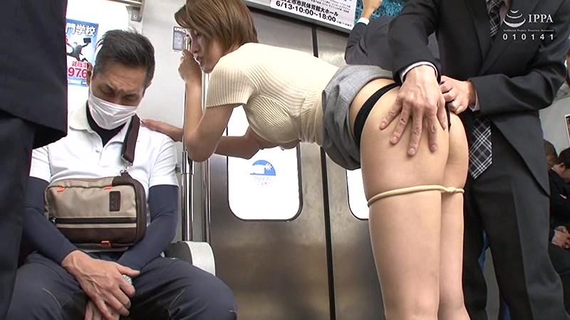 夫の前で痴漢に絶頂(いか)された妻 君島みお VEC-366 screenshot 3