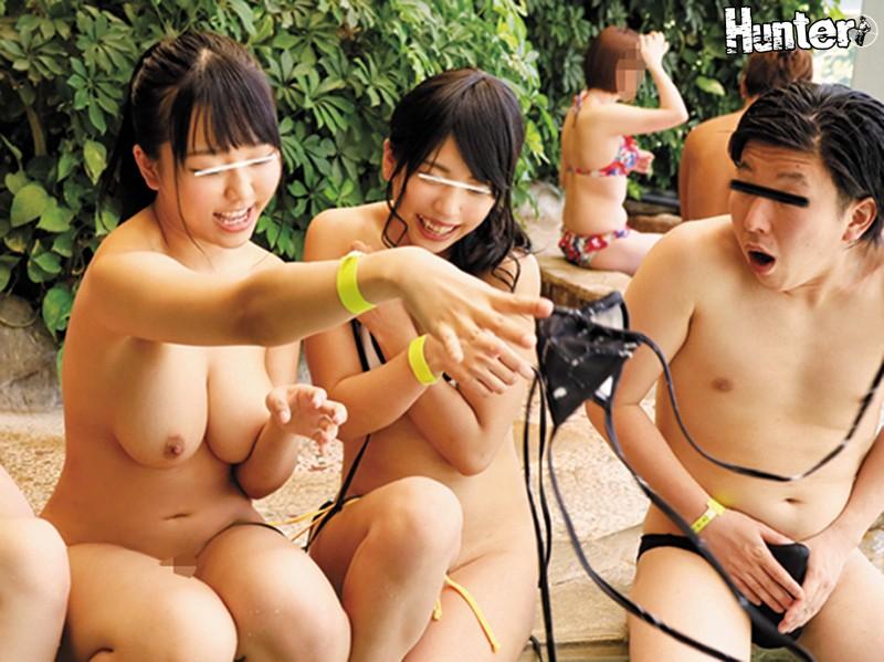 『えっ大きなオッパイが見えてますけど??』巨乳女子大生たちがスパリゾートではしゃぎまくってオッパイ見えまくりで超ラッキー!!スパリゾートで… HUNTA-650 screenshot 2